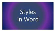 Styles in Word